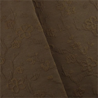 * 4 3/8 YD PC--Brown Floral Matelasse Home Decorating Fabric