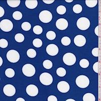 Royal/White Polka Dot Double Brushed Jersey Knit