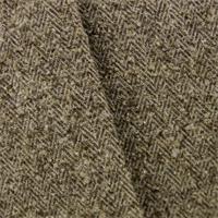 * 1 3/8 YD PC--Brown Herringbone Boucle Upholstery Fabric