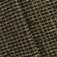 *3 5/8 YD PC--Black/Brown Plantation TFA Basketweave Decorating Fabric