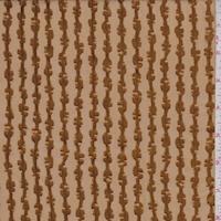 Dark Brass Satin Stripe Silk Chiffon
