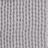 Sterling Silver Satin Stripe Silk Chiffon
