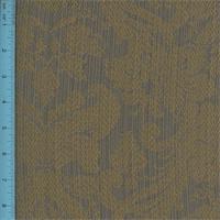 * 5 YD PC--Jacquard Shadae Bronze/Gray Home Decorating Fabric