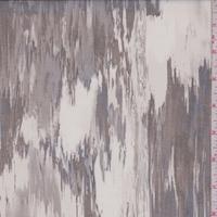 Pearl Grey/Black/Taupe Brush Stroke Silk Organza