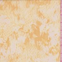 Marigold/Buff Brush Stroke Silk Organza
