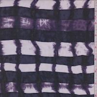 White/Midnight/Purple Tie Dye/Stripe Silk Chiffon
