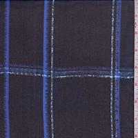 Dark Navy/Blue Plaid Silk Chiffon