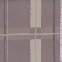 Dusty Brown/Beige Shadow Plaid Silk Chiffon