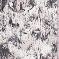 White/Blush/Black Snakeskin Silk Chiffon