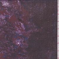 Maroon/Lilac/Blue Granite Look Silk Chiffon