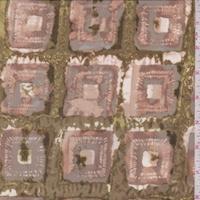 Avocado/Dove/Beige Batik Square Silk Crepe de Chine