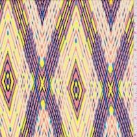 Clay Pink/Yellow Diamond Rayon Challis
