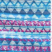 Cloud/Berry Linear Diamond Rayon Challis