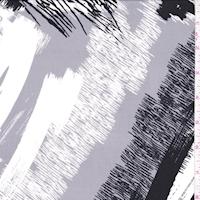 ITY Grey/White/Black Abstract Nylon Jersey Knit