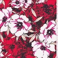 ITY Cherry Sketch Floral Nylon Jersey Knit