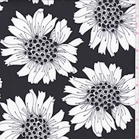 ITY Black/White Bold Floral Nylon Jersey Knit