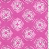 ITY Hot Pink/White Dotted Sunburst Nylon Jersey Knit