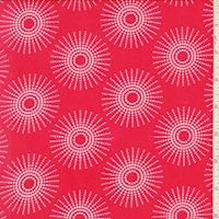 ITY Red/White Dotted Sunburst Nylon Jersey Knit