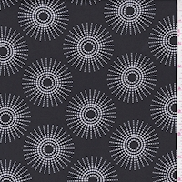 ITY Black/White Dotted Sunburst Nylon Jersey Knit
