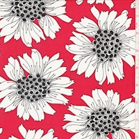 ITY Red Bold Floral Nylon Jersey Knit