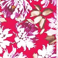 ITY Red/Magenta Peony Nylon Jersey Knit