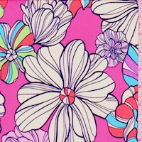 ITY Fuchsia Fun Floral Nylon Jersey Knit