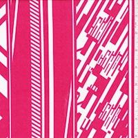 ITY Apple/White Digital Stripe Nylon Jersey Knit