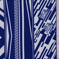ITY Cobalt/White Digital Stripe Nylon Jersey Knit