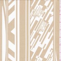 ITY Golden Sands/White Digital Stripe Nylon Jersey Knit