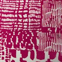 ITY Hot Pink/White Printed Block Nylon Jersey Knit