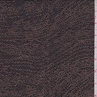 Dark Ink/Brown Mini Pebble Silk Crepe Georgette
