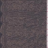 Vintage Navy/Dark Beige Mini Pebble Silk Crepe Georgette