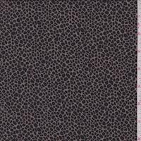Black/Taupe Mini Pebble Silk Crepe Georgette