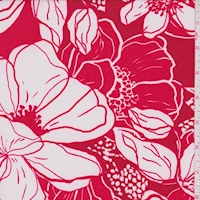 ITY Cherry/White Bold Floral Nylon Jersey Knit