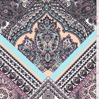 ITY Apricot/Pink Tile Medallion Jersey Knit