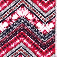 ITY Garnet/Black/White Deco Zag Jersey Knit