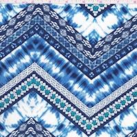 ITY Royal/Navy/White Deco Zag Jersey Knit