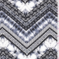 ITY Black/Pewter/White Deco Zag Jersey Knit