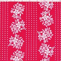 ITY Red/White Floral Stripe Nylon Jersey Knit