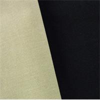 *3 YD PC--Black/Beige Twill Coating Fabric