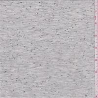 *3 5/8 YD PC--Pale Heather Grey Slubbed T-Shirt Knit