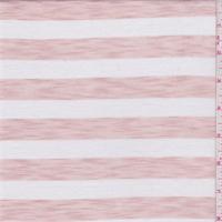 *4 3/4 YD PC--Clay Pink/White Stripe T-Shirt Knit