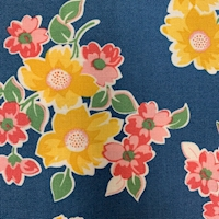 """*4 YD PC--Navy """"Mountain Floral"""" Cotton"""