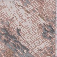Clay/Stone Broken Wicker Silk Crepe de Chine