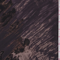 Purple/Grey/Harvest Abstract Silk Crepe de Chine