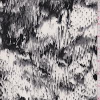 White/Grey/Black Snakeskin Silk Crepe de Chine
