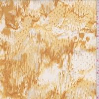 Gold/Yellow/Buff Snakeskin Silk Crepe de Chine