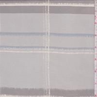 Grey/Dark Taupe Shadow Plaid Silk Chiffon
