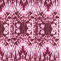 Wine/Pink Kaleidescope Crepon