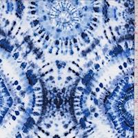 Periwinkle/Royal Batik Crepon